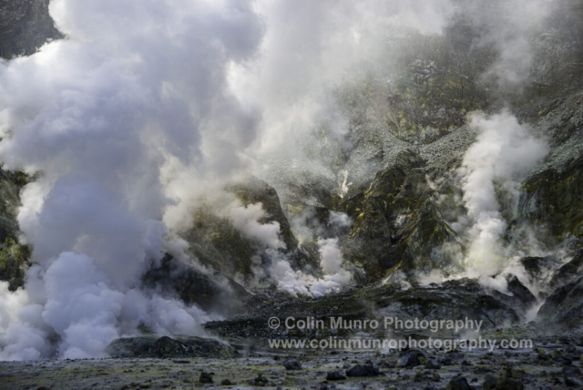 Fumaroles, White Island (Whakaari) New Zealand