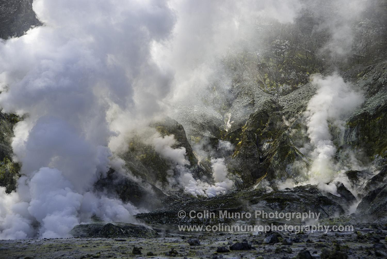 Fumaroles, White Island (Whakaari) New Zealand